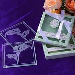 """""""Calla liliom"""" Matt-Poháralátétek Floral által inspirált Gift Box"""