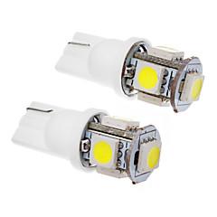 T10 Araba Soğuk Beyaz 1.5W SMD 5050 6000 Gösterge Işıkları Plaka Aydınlatma Lambası Yan Lambalar Sinyal Lambası