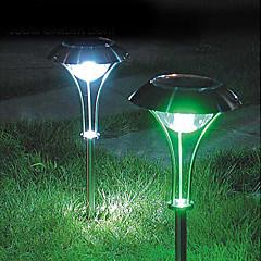 3pcs White LED RVS Solar gazon licht