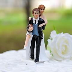 billige Kakedekorasjoner-Kakepynt Ikke-personalisert Klassisk Par / Sport Harpiks Bryllup Svart Klassisk Tema Gaveeske