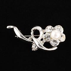 ファッション真鍮の真珠のブローチ結婚式の優雅な女性のスタイル