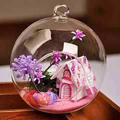 Table Centerpieces Round Glass Vase - Fairytale House  Table Deocrations