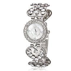 お買い得  レディース腕時計-女性用 ブレスレットウォッチ カジュアルウォッチ 日本産 クォーツ 模造ダイヤモンド 合金 バンド Heart Shape シルバー