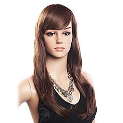 Χαμηλού Κόστους Χωρίς κάλυμμα-Περούκα Κυματιστό Περούκα Με αφέλειες Πλευρικό μέρος Γυναικεία Μακρύ Ανθρώπινες περούκες περούκες μαλλιών