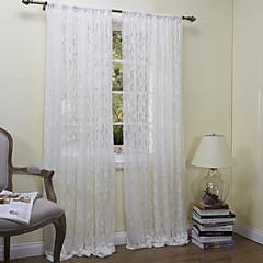 ország egyik panel virágos botanikai fehér hálószobában poliészter áttetsző függönyök árnyalatok