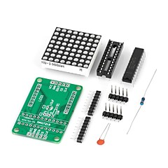cheap -DIY MAX7219 Red LED Dot Matrix Display Module for (For Arduino) (Works with Official (For Arduino) Boards)