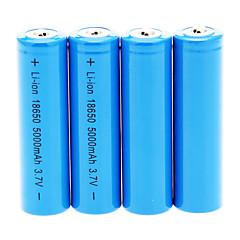 preiswerte Camping, Wandern & Trekking-18650 Batterie Wiederaufladbare Lithium-Ionen Batterie 5000.0 mAh 4pcs Wiederaufladbar für Camping / Wandern / Erkundungen