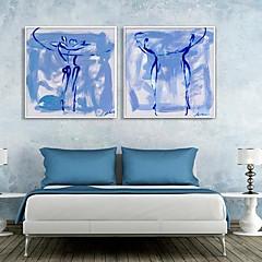 baratos Quadros com Moldura-Fantasia Quadros Emoldurados / Conjunto Emoldurado Wall Art,PVC Branco Sem Cartolina de Passepartout com frame Wall Art