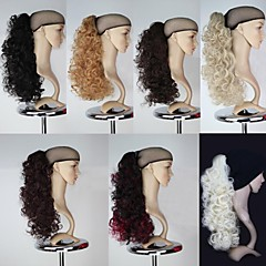 cheap Hair Pieces-18 inch Hair Extension Curly Classic Daily High Quality Ponytails