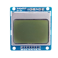 """cheap -1.6"""" Nokia 5110 LCD Module with Blue Backlit for (For Arduino)"""