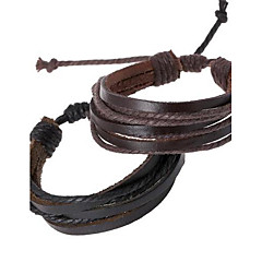 Leather Bracelet  Fashion Simple Style Bracelet Hemp Rope Braided Leather Chain Unisex Cuff Bracelets Couple Bracelet Jewelry Gifts