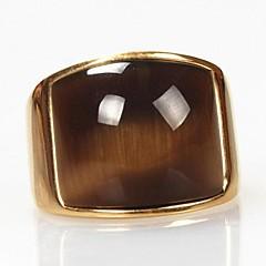Herre uttalelse Ringe kostyme smykker Titanium Stål Opal Smykker Til Daglig Julegaver