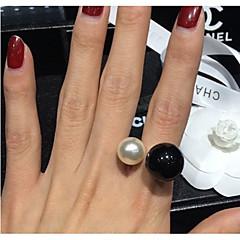 お買い得  ファッションリング-万歳の女性の韓国の真珠のリング(サイズ調整可能)