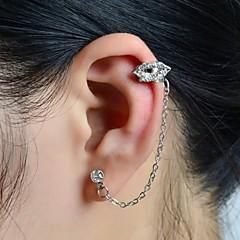 halpa -Korva Käsiraudat ylellisyyttä koruja Tekojalokivi jäljitelmä Diamond Metalliseos Huulet Korut VartenHäät Party Päivittäin Kausaliteetti