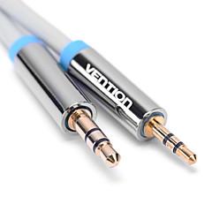 hesapli -2.5mm erkek ses aux kablosu ücretsiz nakliye 0.75m 2.46ft 3.5mm erkek