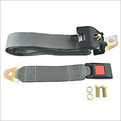 billige Setetrekk til bilen-belastninger ™ justerbart bilbeltet lap tre-punkts sikkerhetsbelte-grå