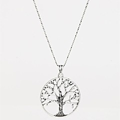 Necklace Pendant Necklaces Jewelry Birthday / Thank You / Gift / Party Friendship Alloy Silver 1pc Gift