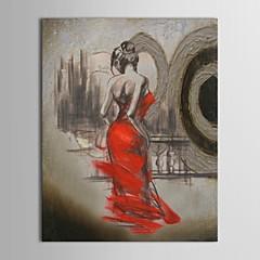 iarts®hand festett olajfestmény ember félig meztelen táncos lány feszített keret