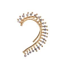 Ear Cuffs luksusowa biżuteria Kryształ górski sztuczna Diament Stop Biżuteria Na Ślub Impreza Codzienny Casual Sport