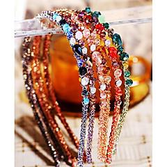 お買い得  レディース  ジュエリー-ファッション多色不規則な結晶デコレーションヘアバンド(1個)(もっと色)