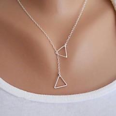 Naisten Riipus-kaulakorut Triangle Shape Metalliseos Yksinkertainen Muoti minimalistisesta pukukorut Korut Käyttötarkoitus Party
