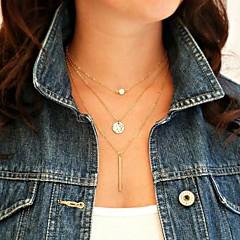 shixin® одежды (круг, я) жемчуг сплав крошечный ожерелье (Золотой) (1 шт)