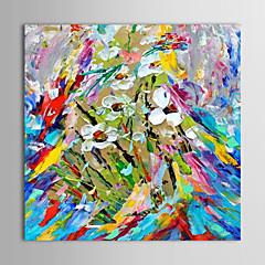 iarts®hand festett olajfestmény virág késsel festett virágok feszített keret