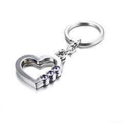 3d bling lila kristalli salaperäinen sydän sinkki metalliseos avaimenperä (ensimmäinen 10 asiakasta laatikko lisätty)