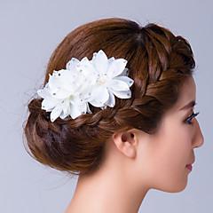 kubický zirkonie tkaniny květiny vlasy pin headpiece elegantní styl