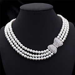 cheap Necklaces-Women's Rhinestone - Others White / Wedding / Party / Special Occasion / Anniversary / Birthday