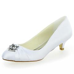 levne Svatební boty-Dámské - Svatební obuv - Kulatá špička - Lodičky - Svatba -Černá / Modrá / Žlutá / Růžová / Fialová / Červená / Slonovinová / Bílá /