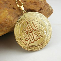Men's Pendants Stainless Steel 18K Gold Plated Casual Fashion Jewelry For Dailywear Allah Muslim Pendant