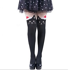 Socks/Stockings Sweet Lolita Lolita Princess Lolita Accessories Stockings Animal Print For Velvet