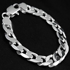 cheap Bracelets-Men's - Chain / Personalized Silver Bracelet For Party / Anniversary / Birthday