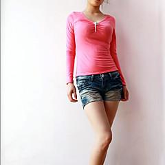 Damen Solide-Street Schick Bluse