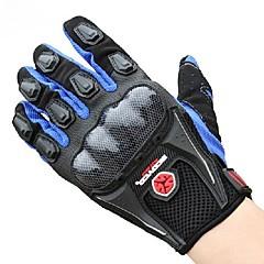 tanie Rękawiczki motocyklowe-Full Finger Nylon Prześwitująca EVA Lycra Siateczka Nylon Bawełna Motocykle Rękawiczki