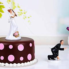 prachtige cake topper vegas thema hars met elegante huwelijksreceptie
