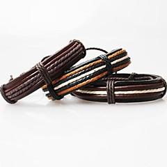Pulseiras de couro Original Confeccionada à Mão bijuterias Moda Pele Tecido Jóias Jóias Para Festa Diário Casual Presentes de Natal
