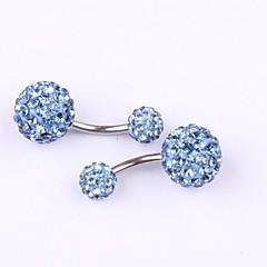 Χαμηλού Κόστους Navel Rings-Γυναικεία Κοσμήματα Σώματος Δαχτυλίδι / Δακτύλιος της κοιλιάς Ανοξείδωτο Ατσάλι Στρας Κόκκινο Πράσινο Μπλε Ροζ Χρυσαφί Κοσμήματα Μπάλα