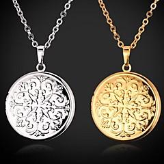 Feminino Gargantilhas Colares com Pendentes Medalhões Colares Colares Vintage Pingentes Formato Circular Forma Geométrica Cobre Chapeado