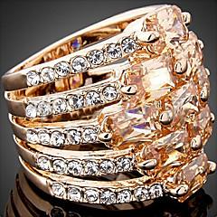 levne -Prsteny s kamenem Zirkon Slitina Módní Prohlášení o šperky Zlatá Tmavě červená Šperky Párty 1ks