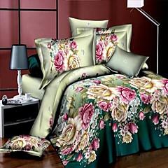 baolisi® 3d mode comfortabele bloemenprint beddengoed vier stuk
