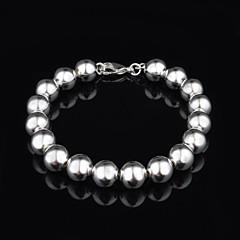 cheap Bracelets-Fashion Sterling Silver Beading Women's Bracelet Elegant Style