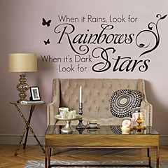 Words & Quotes Wall Stickers Plane Wall Stickers Decorative Wall Stickers, PVC Home Decoration Wall Decal Wall