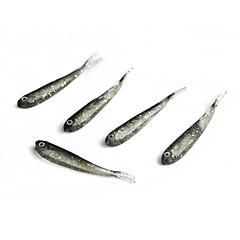 billiga Fiskbeten och flugor-5 pcs Mjukt bete / Fiskbete Mjukt bete Silikon Sjöfiske / Kastfiske / Karpfiske / Drag-fiske / Generellt fiske / Trolling & Båt Fiske