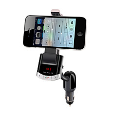 Bluetooth handsfree car kit, bluetooth 4.0 / fm transmissor / carregador de carro / titular do telefone móvel