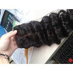 billiga Peruker och hårförlängning-Mänskligt hår - Brun - HÅRFÖRLÄNGNING - till Dam - Stora vågor