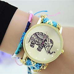 cheap Watches-Women's Fashion Watch Chinese Tile Other Band Bracelet Watch Black Blue Grey Pink