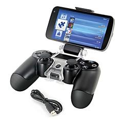 טלפון חכם הר בעל אחסון תושבת + כבל טעינה לgamepad בקר PS4