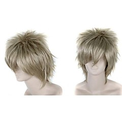billiga Peruker och hårförlängning-Syntetiska peruker Rak Syntetiskt hår Grå Peruk Dam Utan lock Grå